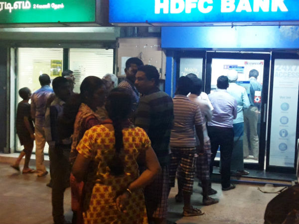 Most of the ATMs are running out of money in Tamilnadu, creates Demonetisation panic