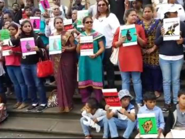 Australian Tamils Protest for Cauvery and Sterlite issues