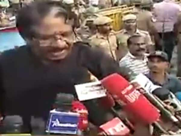 Bharathiraja refused to go out