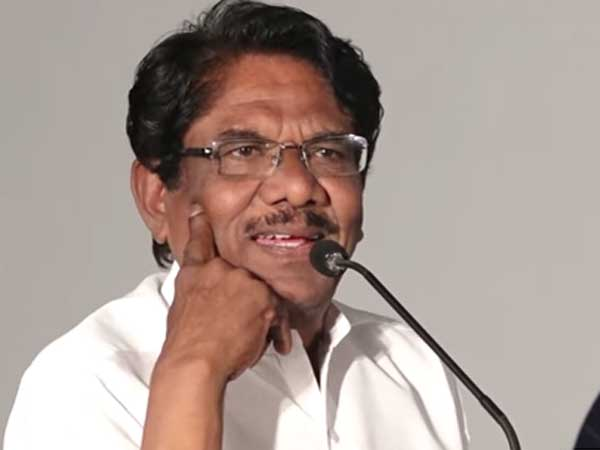 Bharathiraja says that Rajini is living luxurious life in Tamils blood