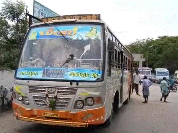 Accident at bus near Panruti-20 injured