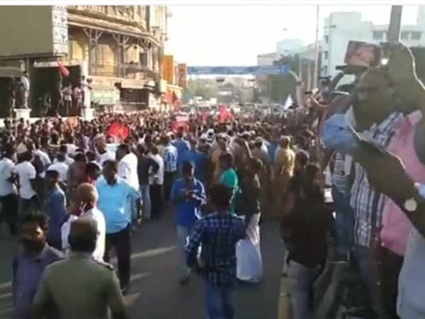 Severe protest occurs in Anna Salai: various organisations opposes IPL