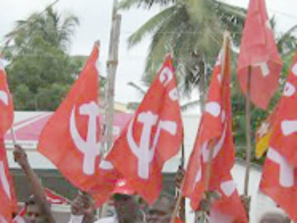 Police arrested Indian Communist Party members at Hosur