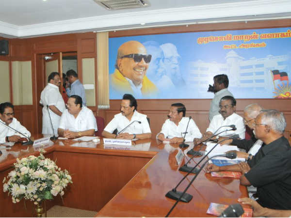 All party meeting headed by stalin today at chennai for cauvery rights