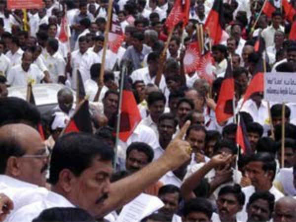 DMK and allied parties protest against modification sc,st on coming 16th
