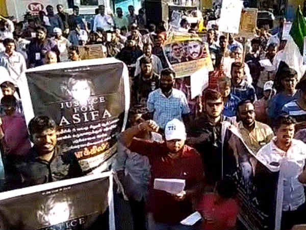 Tamilnadu Thowheed Jamath conducts protest at Chennai with the demand of justice for kathua rape victim
