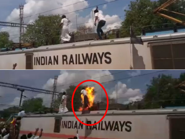 Electricity attack and Pmk volunteer death in Dindivanam Railway Station.