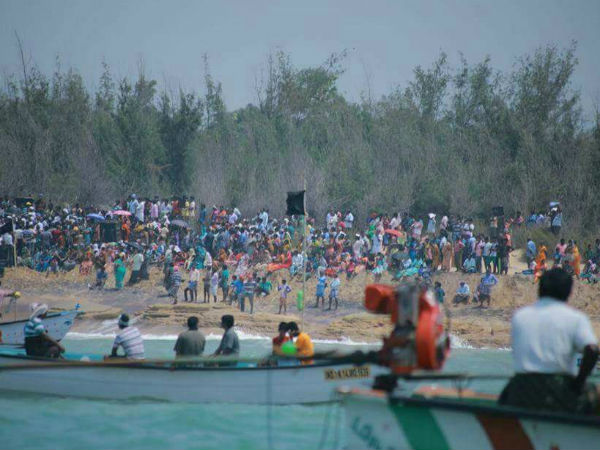 Public protest against the Kovalam project