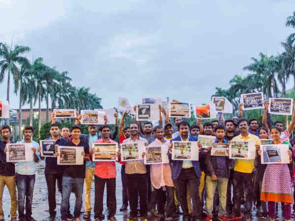 Tamils stage protest demanding CMB in Taiwan