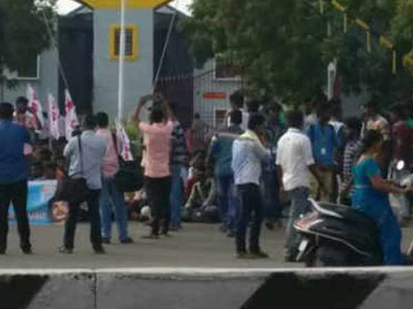 Tanjore Students Protest on Cauvery issue