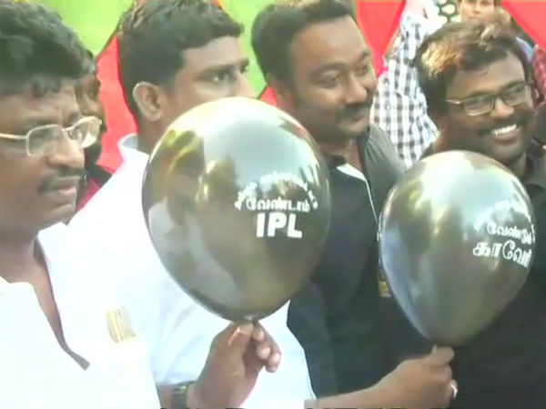 VCK and TVK protests near to Chennai Chepauk stadium arrested
