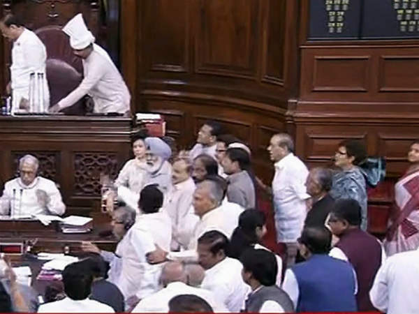 TN, Andhra MPs ruckus disrupts Rajyasabha twice today