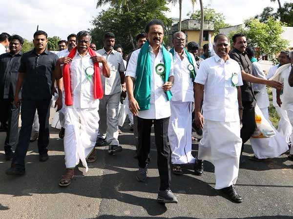 Cauvery issue: Stalin and other opposition leaders car rally to Raj Bhavan