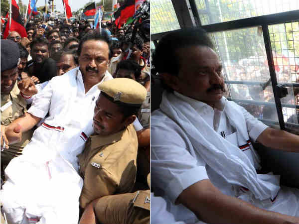 After the Assembly incident once again MK Stalin arrested