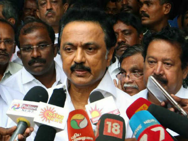 DMK Leader Stalin tribute note to Ex Mayor Ganesan