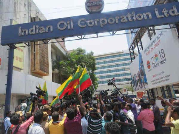 சென்னை ஐஓசி தலைமை அலுவலகத்திற்குள் நுழைந்து போராட்டம்- வேல்முருகன் உட்பட 250 பேர் கைது