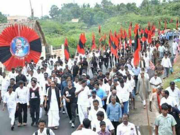 Vaiko begins Second day of his Rally against INO Project