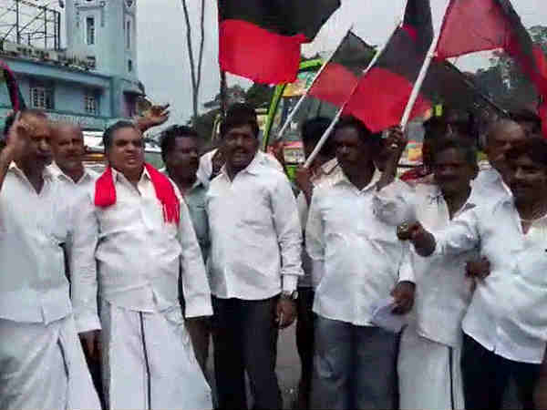 Stalin condemned the protest by the DMK