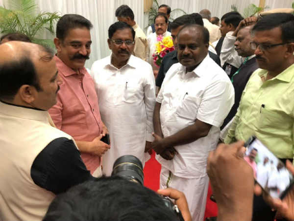 Curious to see what follows, Kamal tweets after his meeting with Kumaraswamy