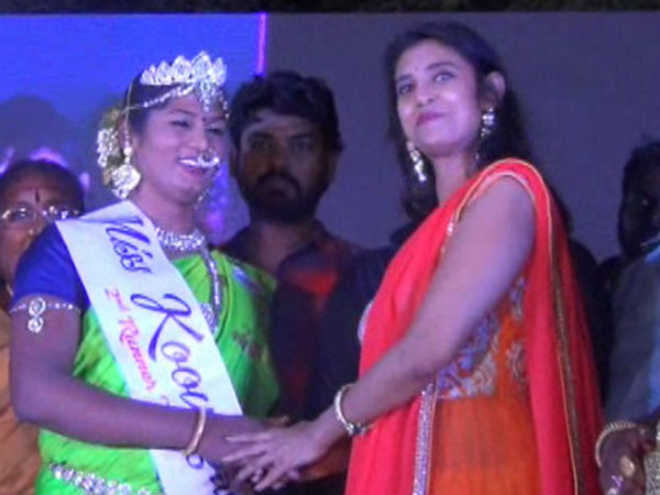Mubina wins Miss Koovagam 2018 beauty pageant title