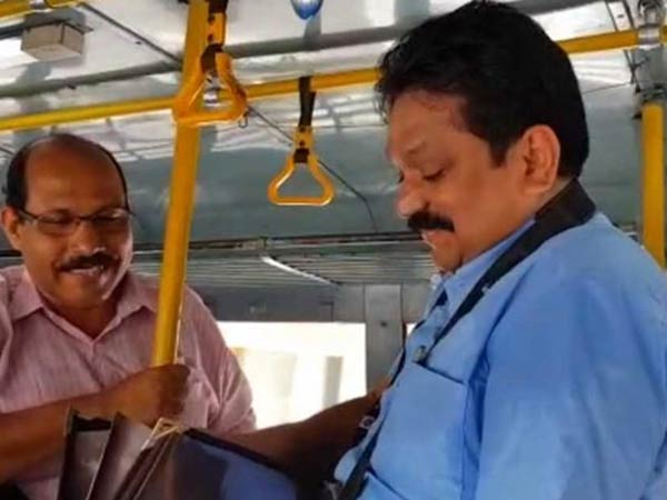 KSRTCs top official turns into Conductor