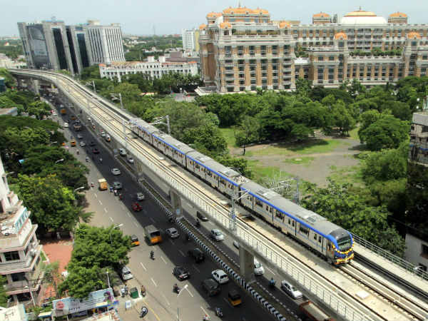 Metro Service Extended to Chennai Central