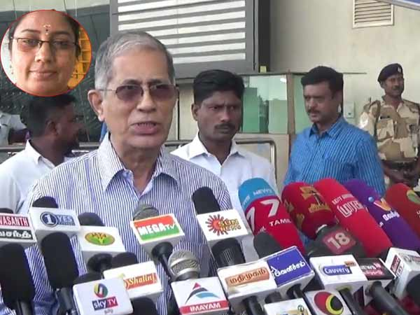 Nirmala Devi Issue: Santhanam submits his investigation report to TN Governor