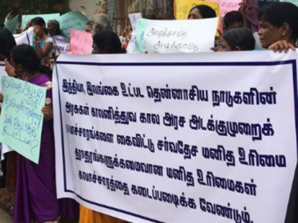Jaffna Tamils hold protest over Tuticorin massacre