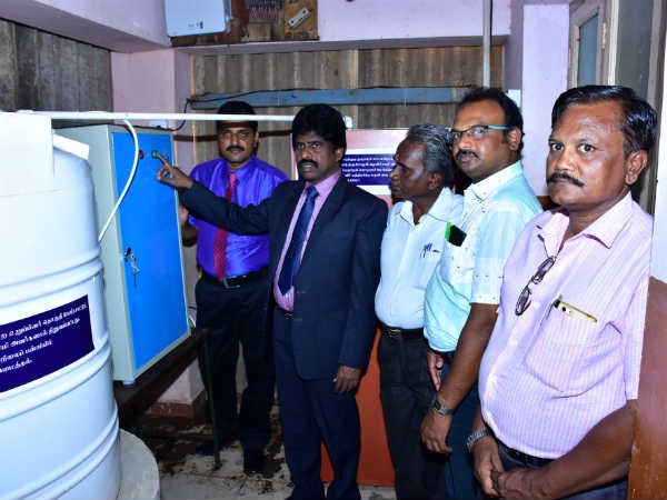 Water Purifying Machine Given Sivagangai School