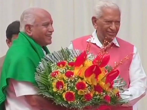 Yeddyurappa takes oath as the CMO Karnataka in the name of god and farmers