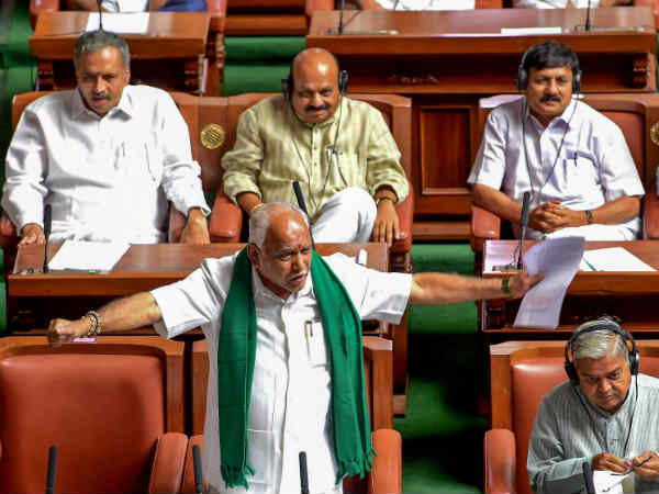Karnataka Floor Test: BJP hits heavily on the JD(S)-Congress tie up, Goes out of assembly