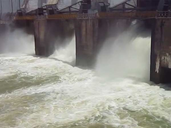 Excess water being discharged from Kabini dam