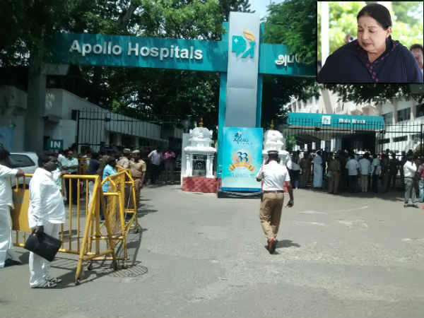 Arumugasamy commission's incpection cancelled at Appollo Hospital