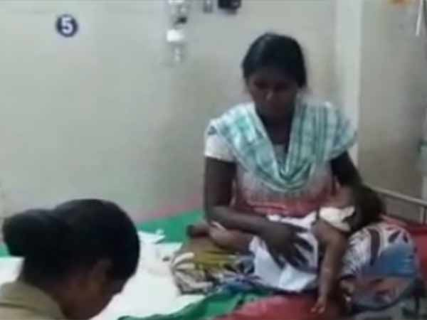 5 month Childs neck and ear cut near Thiruvallur