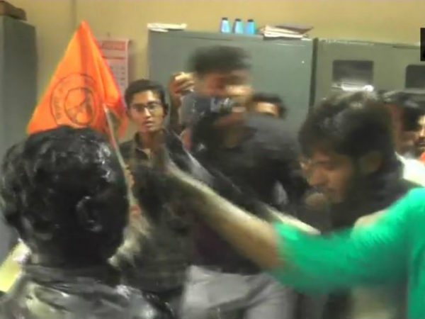 Gujarat: ABVP activists attack professor and blacken face