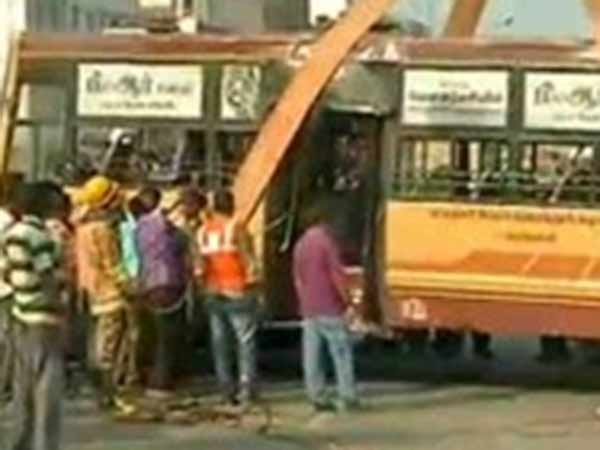 MTC bus accident in Chennai Amjikarai