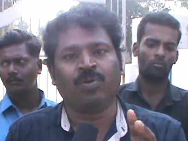 Director Gowthaman protest in Chennai against Crude oil pipeline imprinting work