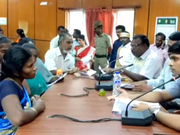 Disabilities petitioned to the Thoothukudi collector