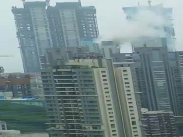 Fire breaks out at residential in Mumbais Worli