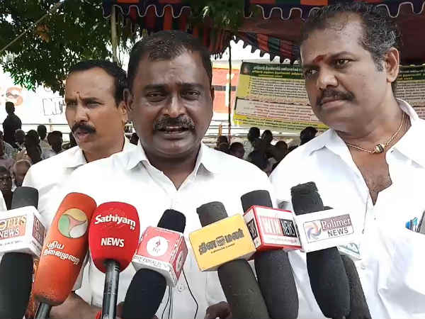 temple workers dharna protest in kovai