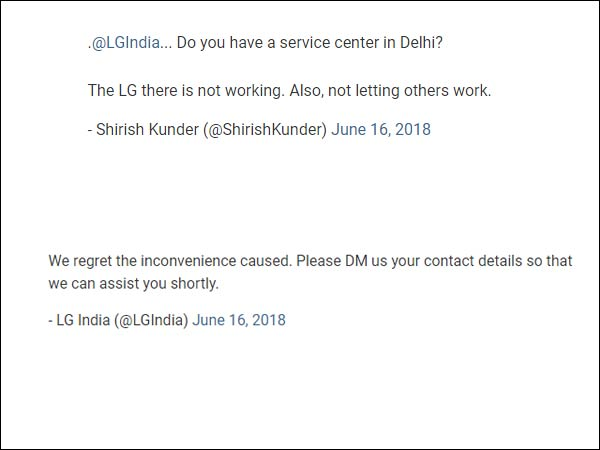 LG In Delhi Not Working, LG has seriously replied for the sarcastic tweet on Lieutenant Governor