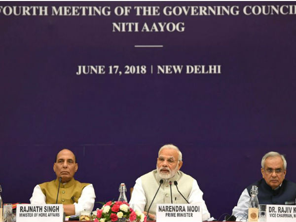 Prime Minister Narendra Modi raised the issue of simultaneous elections in the NITI Aayog meet