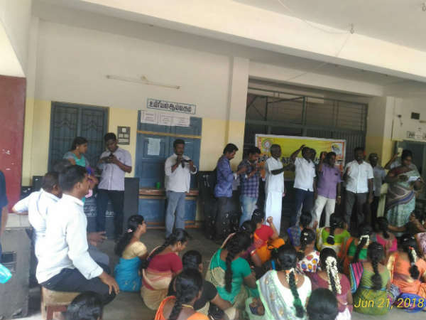 TN Teachers protest new transfer order