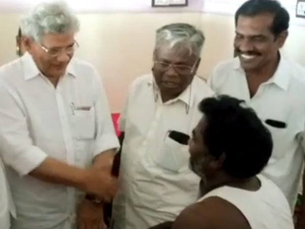 Sitaram Yechuris comfort for the families of the victims of gunfire in Thoothukudi