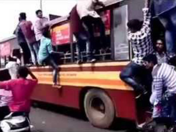 50 College Students arrested in Chennai city bus