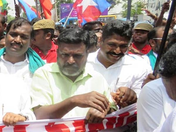 Central Government plays a role on firing says Thirumavalavan