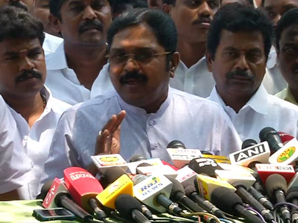 TTV Dinakarans criticism against ADMK