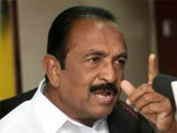 vaiko condemns the sterlite plan ceo