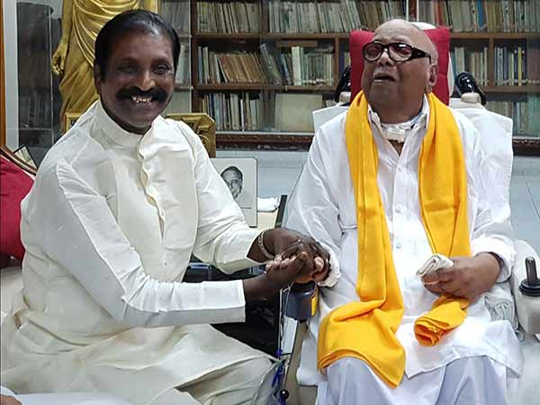 Vairamuthu birthday wishes for Karunanidhi