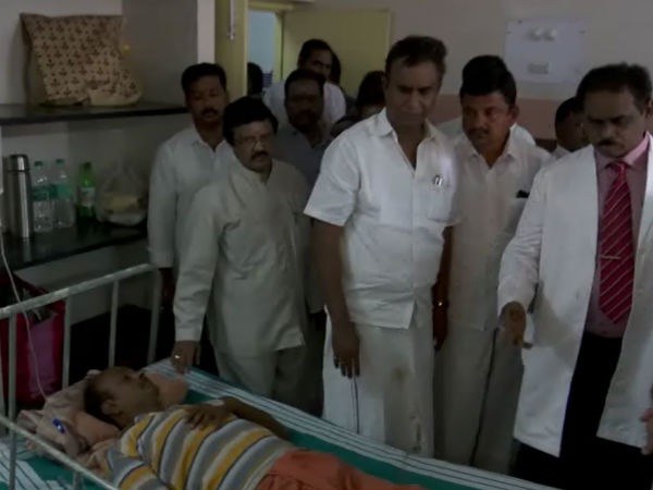 minister velumani met the injured people in the coonoor accident in kovai